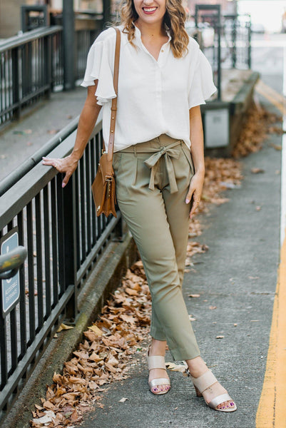 Fancy Pants Tie-Waist Trousers