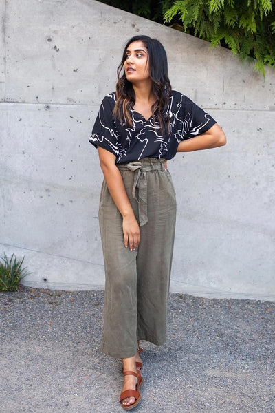 Pocket Science Wide-Leg Trousers