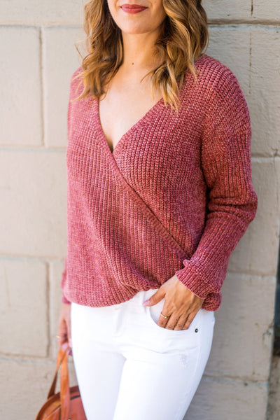 Flip a Switch Chenille Wrap Sweater