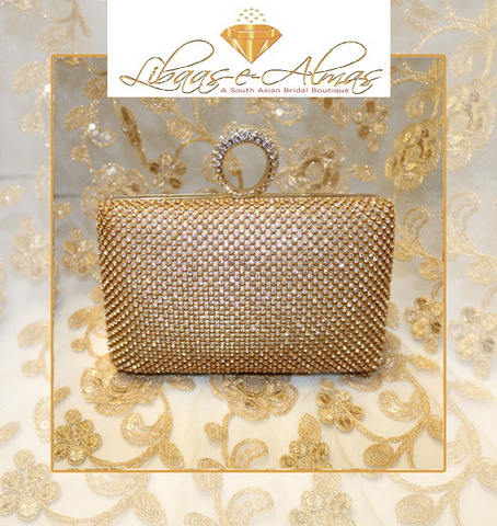 Libaasealmas-beaded evening clutch