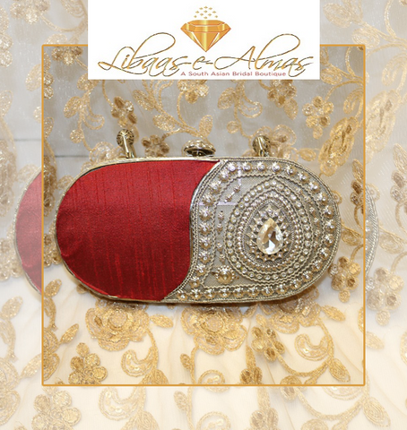 libaasealmas beaded evening clutch