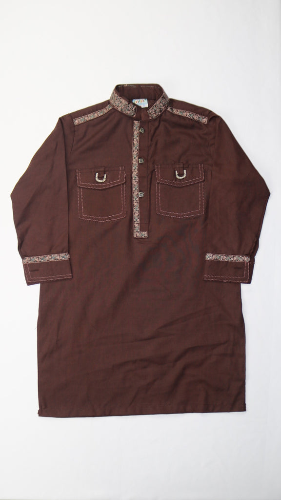 Dark Brown Shalwar Kameez