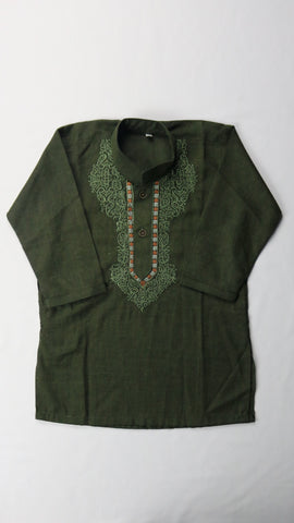 Hunter Green Shalwar Kameez