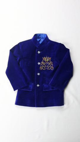 Royal Blue Velvet Jacket