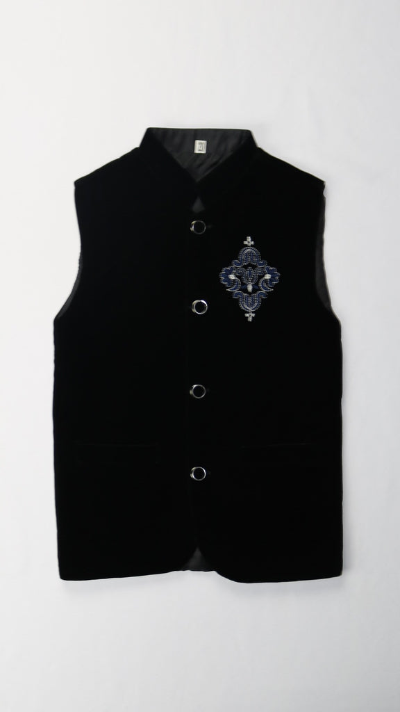 Black with Blue Logo Vest