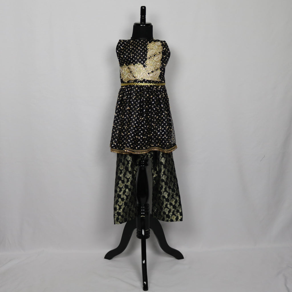 Black & Gold Flapper Kameez