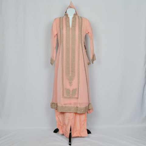 Light Pink & Brown Shalwar Kameez