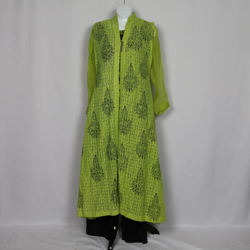 Lime Green Jacket Style Gown
