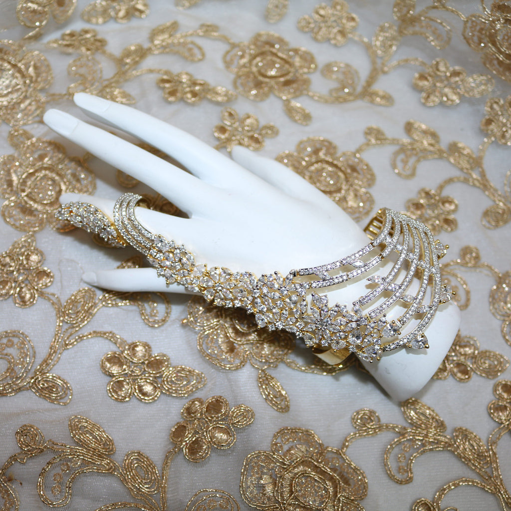 Gold Plated Hand Cuff