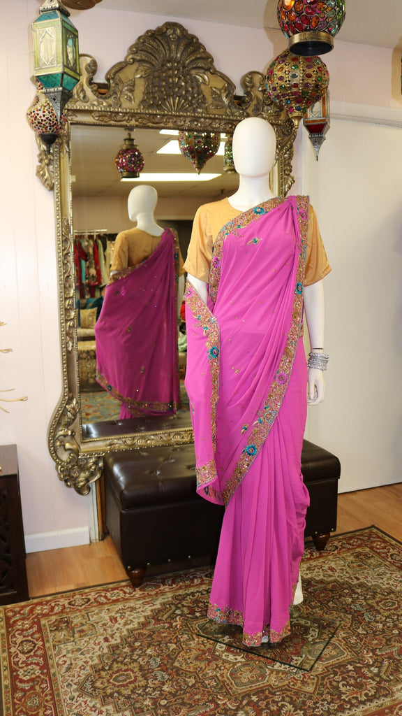 Two-Toned Pink Sari