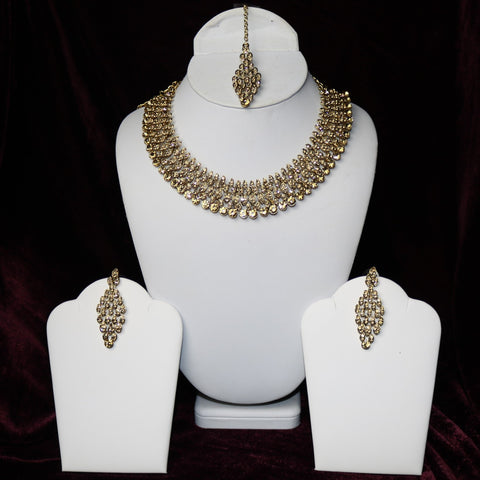 Golden Stones Riviera Necklace Set