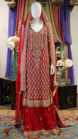 Classic Golden Red Lengha