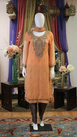 Orange Salwar Kameez
