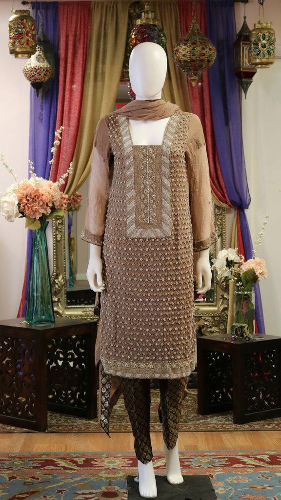 Embellished Short Shirt Shalwar Kameez