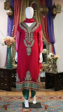 Multicolor Threaded Shalwar Kameez