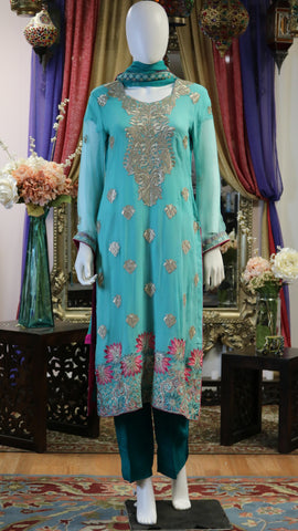 Two-Toned Threaded Shalwar Kameez