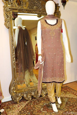 Blush Pink and Gold Shalwar Kameez