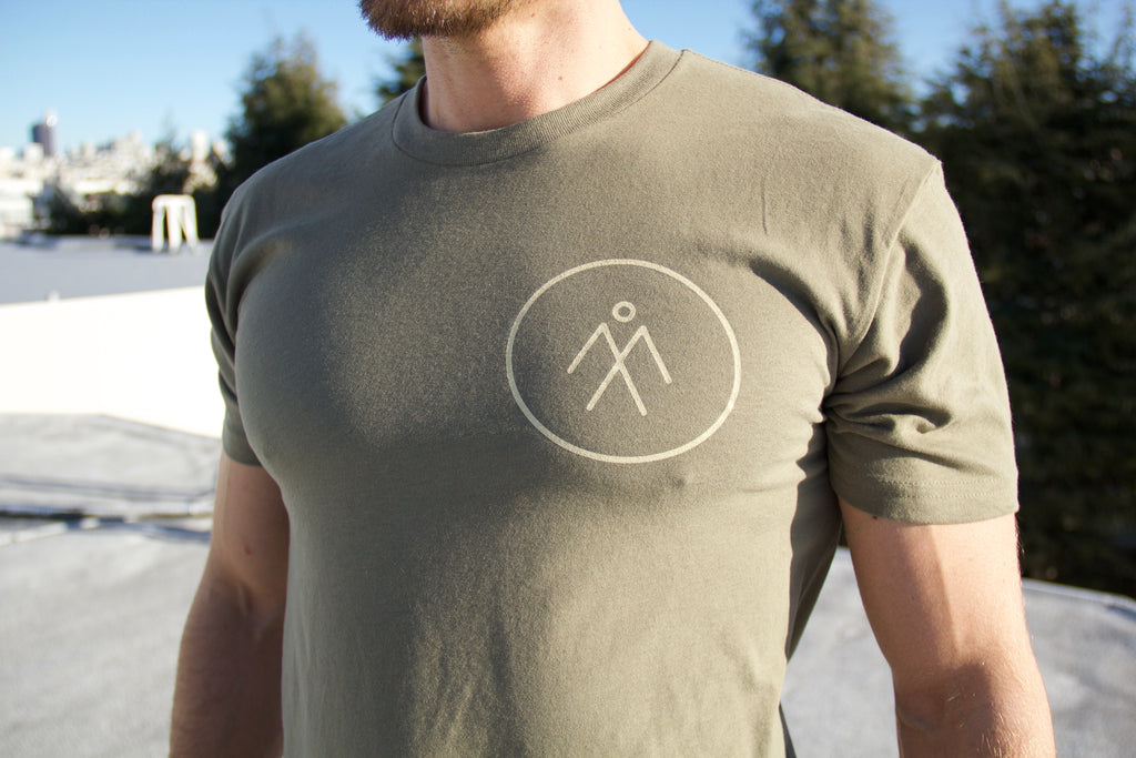 Men's Short Sleeve Athletic Tee - Military Green
