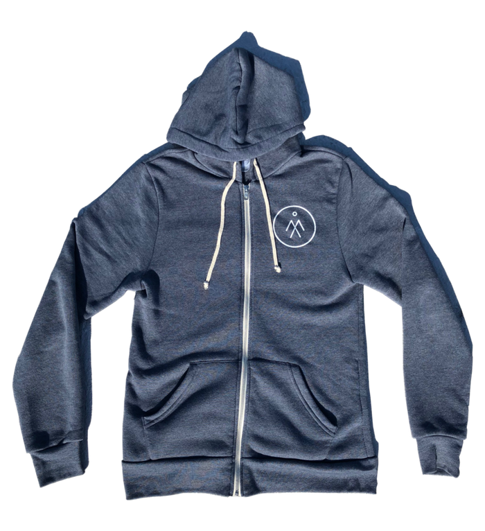 Unisex Rocky Eco-Fleece Zip Hoodie - True Navy