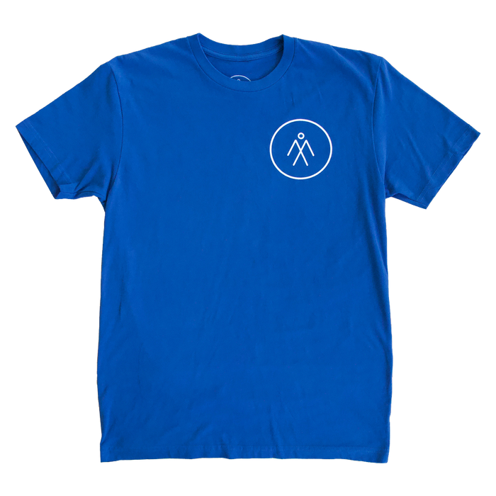 Men's Short Sleeve Athletic Tee - Cool Blue