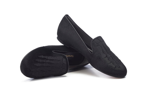 Jem Skull Pony Slipper - Black