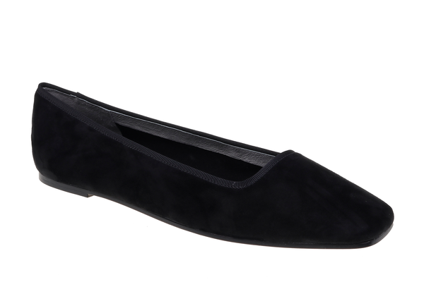 Jackie Kid Suede Slipper - Black