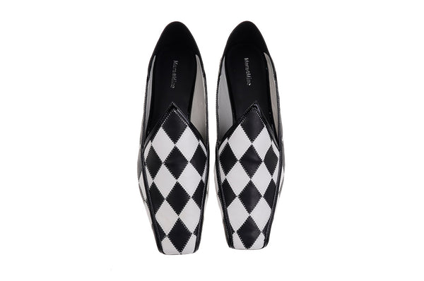 Florence Slippers - Black & White