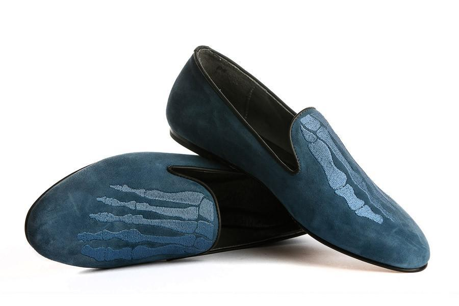 Jem Skull Slipper - Blue Blue