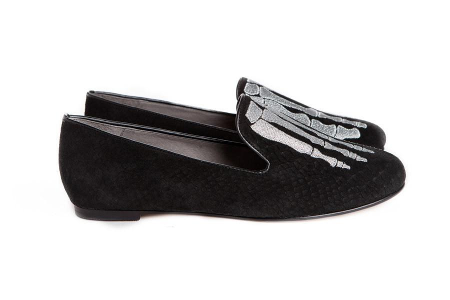 Jem Skull Slipper - Black & Silver