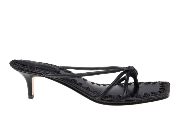 Azeline Kitten Heel - Black