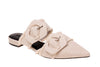 Lulu Linen Pointed Flat - Taupe
