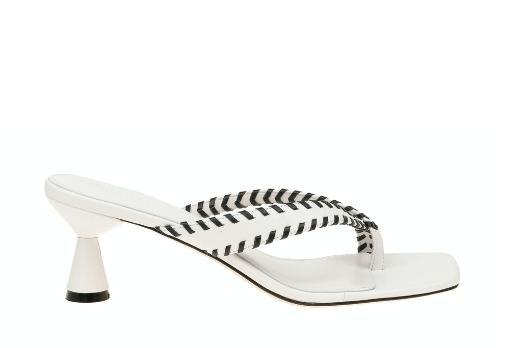 Tamara Sandal - White/Black