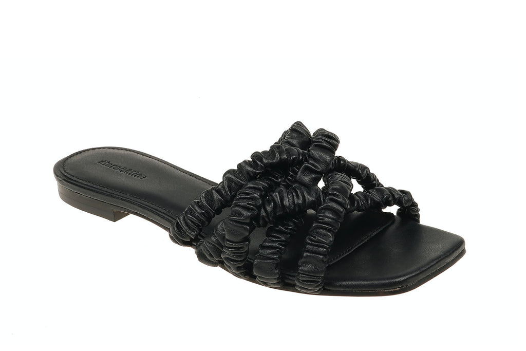 Theresa Scrunchie Sandal - Black