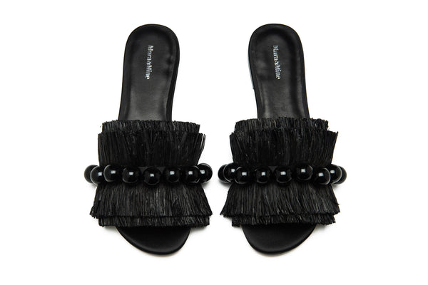 Annika Bubble Slides - Black
