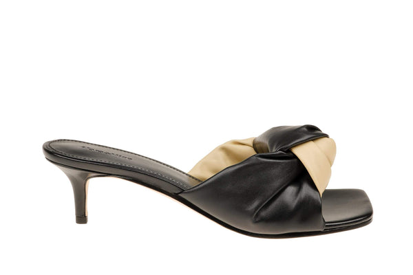 Kendall Knot Kitten Heel - Black/Natural