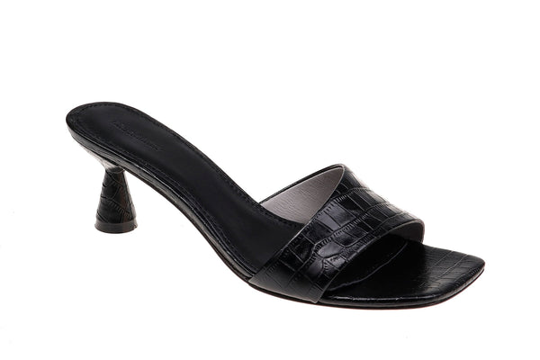 Xanthe Kitten Heel - Black