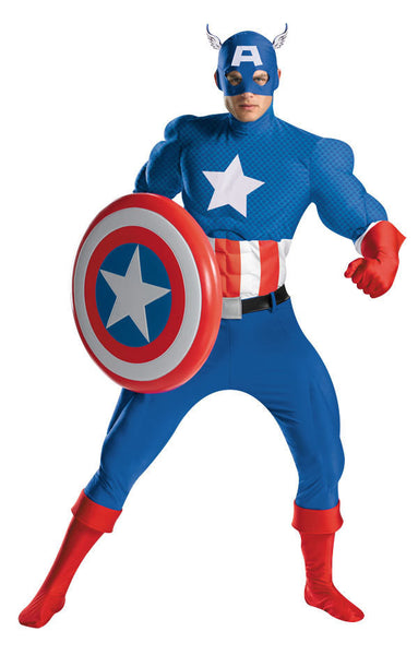 Adult Captain America Costume - Super Deluxe