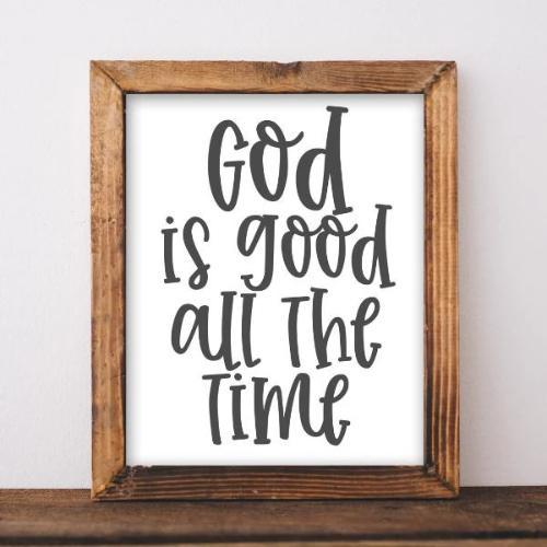 God is Good - Printable - Printable Digital Download Art by Gracie Lou Printables