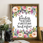 Be Fearless - Printable - Gracie Lou Printables