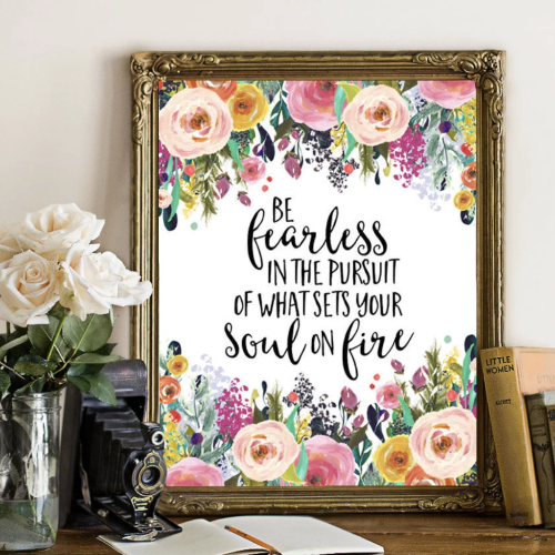 Be Fearless - Printable - Printable Digital Download Art by Gracie Lou Printables