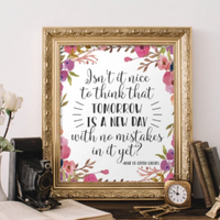 Tomorrow  - Printable - Printable Digital Download Art by Gracie Lou Printables