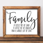 Family - Printable Wall Art - Gracie Lou Printables