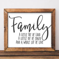 Family - Printable - Printable Digital Download Art by Gracie Lou Printables