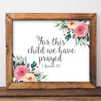 For This Child - Printable - Gracie Lou Printables