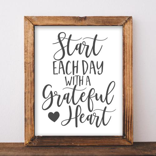 Start Each Day - Printable - Printable Digital Download Art by Gracie Lou Printables