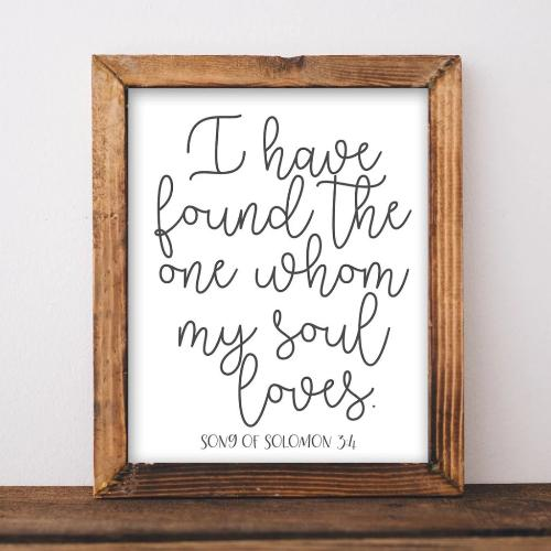 Song of Solomon 3:4 - Printable - Printable Digital Download Art by Gracie Lou Printables