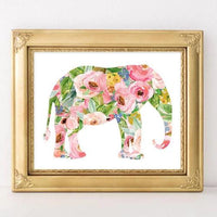 Elephant - Printable - Printable Digital Download Art by Gracie Lou Printables