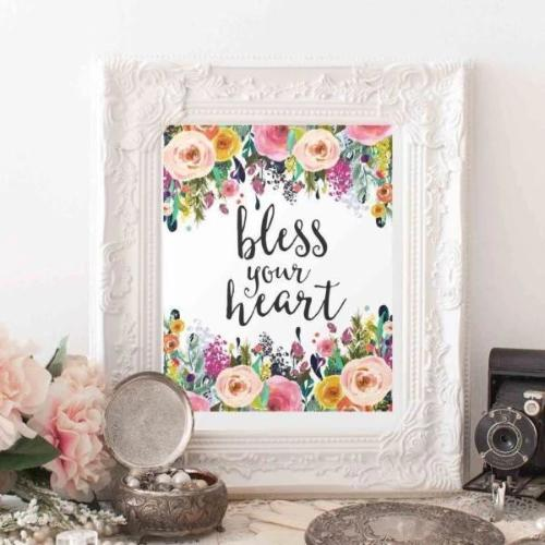 Bless Your Heart - Printable - Gracie Lou Printables