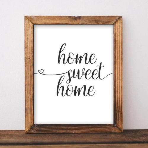 Home Sweet Home, Printable Wall Art, Gracie Lou Printables, DIY home decor, Black and white Printable, Instant Download, Digital Download