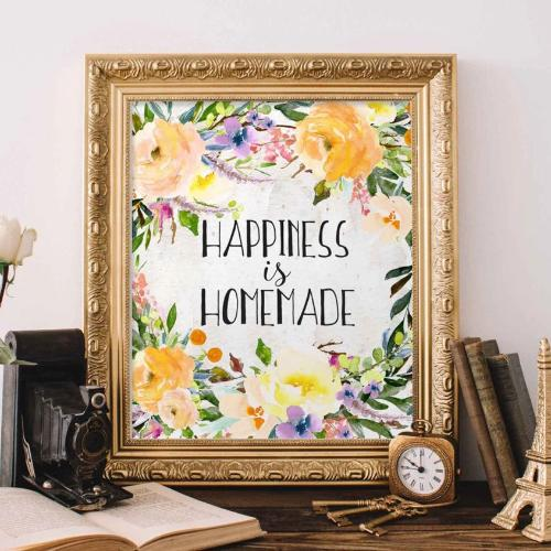 Happiness is Homemade - Printable - Printable Digital Download Art by Gracie Lou Printables